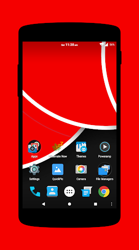 Bright Red - Dark CM12 Theme