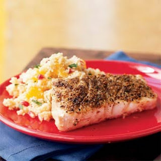 Grilled Grouper with Browned Butter-Orange Couscous.