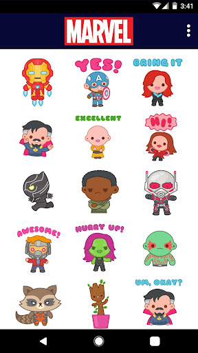 Screenshot for Marvel Stickers: Hero Mix in Hong Kong Play Store