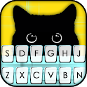 Cute Black Cat Keyboard Theme icon