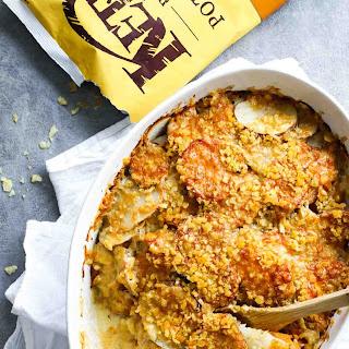 The Best Garlic Herb Cheesy Potatoes.