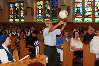 Photo: My uncle, Jorge, brings a symbol of the universality of our mission