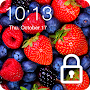 Sweet Berries Raspberry Cherry Wallpaper Lock