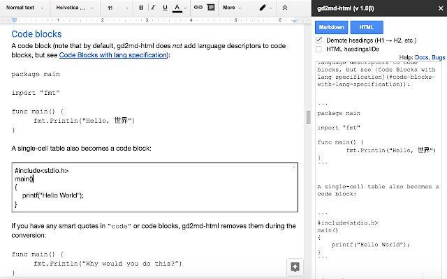 Docs To Markdown Google Docs Add On