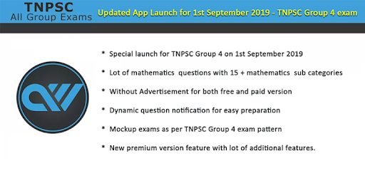 TNPSC Group 4 , 2 and 1 - English & Tamil - MCQ - Apps on