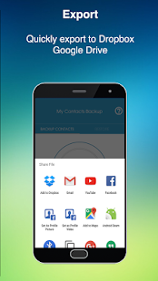 Smart Contacts Phone Backup & Restore - náhled