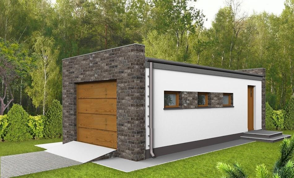 Wizualizacja projektu tygodnia - Garaż G9 (TEM-854)