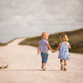 Walk by Nemanja Stanisic - Babies & Children Children Candids ( love, forever, children, kids, cute, pretty, twins, walk, holding hands )