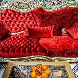 Sofa by Richard Michael Lingo - Artistic Objects Furniture ( artistic objects, red, sofa, oranges, furniture )