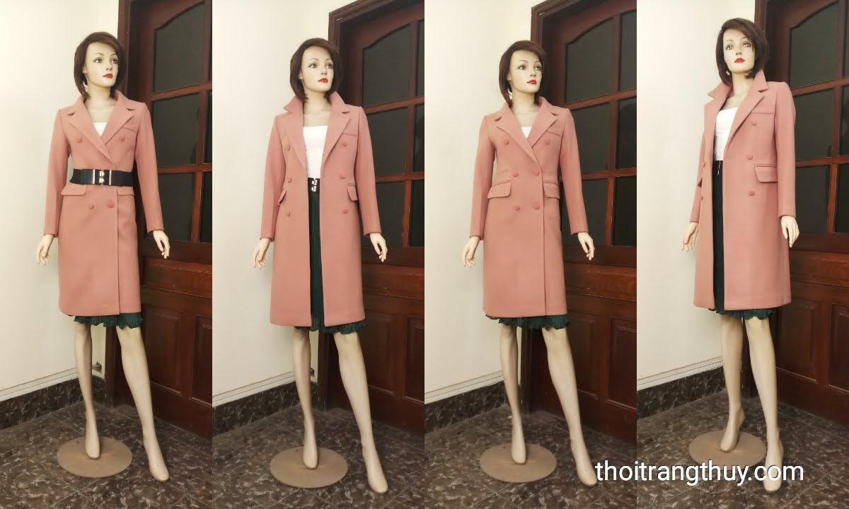 Áo măng tô dạ nữ tính và phong cách V663 thời trang thủy