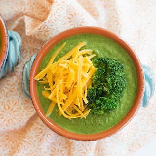 Rich and Creamy Keto Broccoli Cheese Soup.
