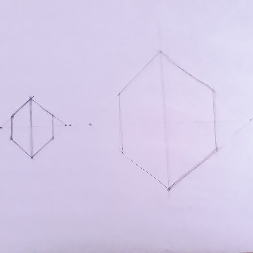 Picture of two point perspective drawing