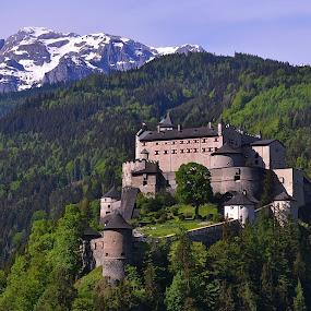 Hohen Werfen by Abhinav Ganorkar - Buildings & Architecture Public & Historical ( palace, mountains, castle, bavaria, germany, hills )