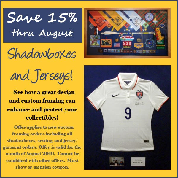 Save on shadowboxes and jerseys!