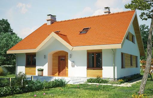 projekt Groszek dach dwuspadowy