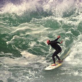 by Gavin Falck - Sports & Fitness Surfing ( surfing, wave, sport, sea, gavin falck, ocean, beach )