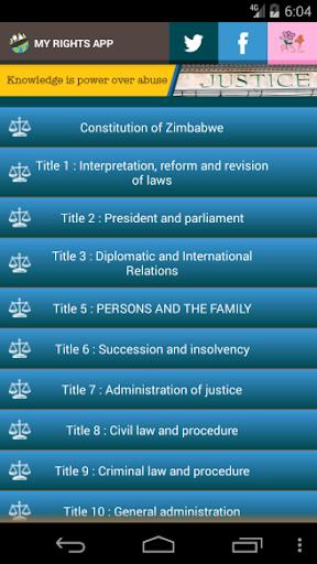 Zimbabwe Laws App  screenshots 3