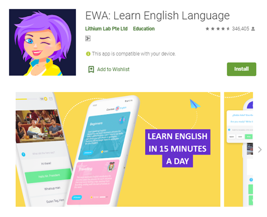 Mobile app type - Education - EWA