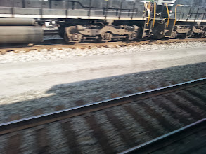 Photo: Shadow picture of our train.