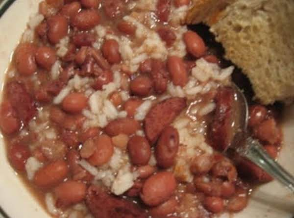 Grandma Mae's Kielbasa, Beans & Rice. Recipe