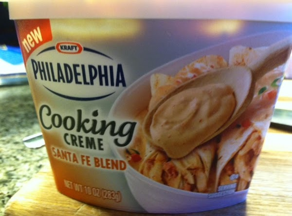 Preheat oven to 350F. -Remove your Philadelphia Cooking Cream Cheese Santa Fe blend from fridge...
