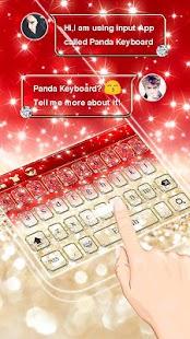 Glitter Red Keyboard Theme - náhled