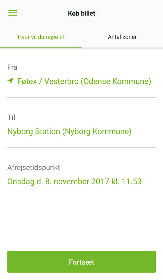 FynBus Mobilbillet- screenshot