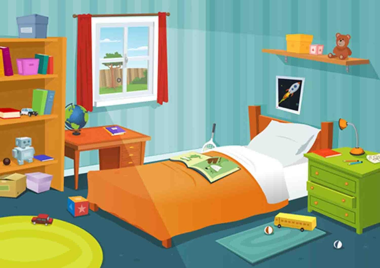 Cartoons wallpaper android apps on google play - Dessin chambre d enfant ...