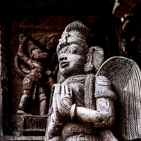 Warrior And Saviour by Gowri Shankar - Buildings & Architecture Statues & Monuments ( statue, god, garuda, chariot, hanuman )