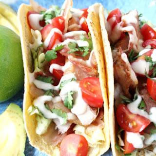 BLT Tuna Tacos w/ Lime Aioli Drizzle