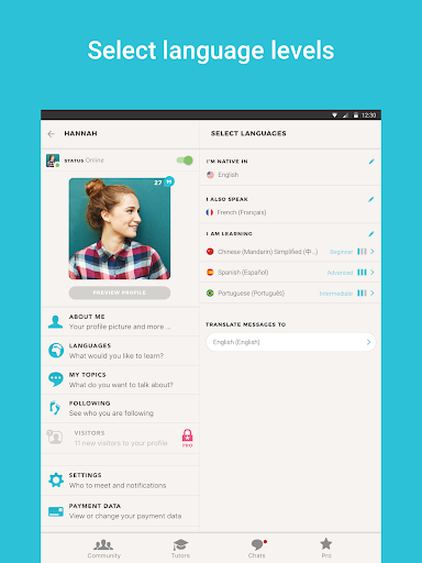 Tandem Language Exchange: Speak & learn languages 2.0.2 screenshots 7