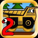Kids Trucks: Puzzles 2 - Gold icon