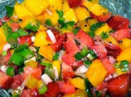 Sweet And Spicy Strawberry Mango Salsa Recipe