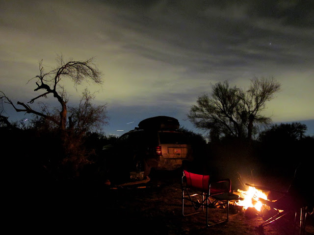 Camp near the Rolls, just outside Four Peaks Wilderness