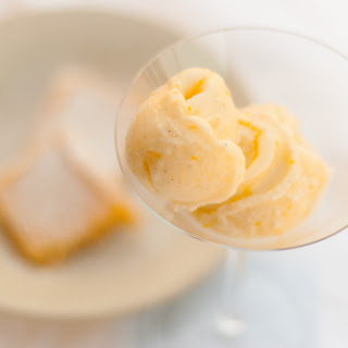 Meyer Lemon Mascarpone Sherbet