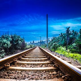 Railway Blues by Andre Oelofse - Transportation Railway Tracks (  )