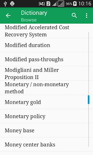 Accounting Dictionary Offline 1.1 screenshots 1
