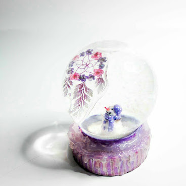 Dreamcatcher in Christmas Crystal Ball