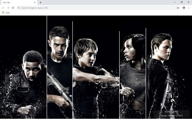 Divergent New Tab & Wallpapers Collection