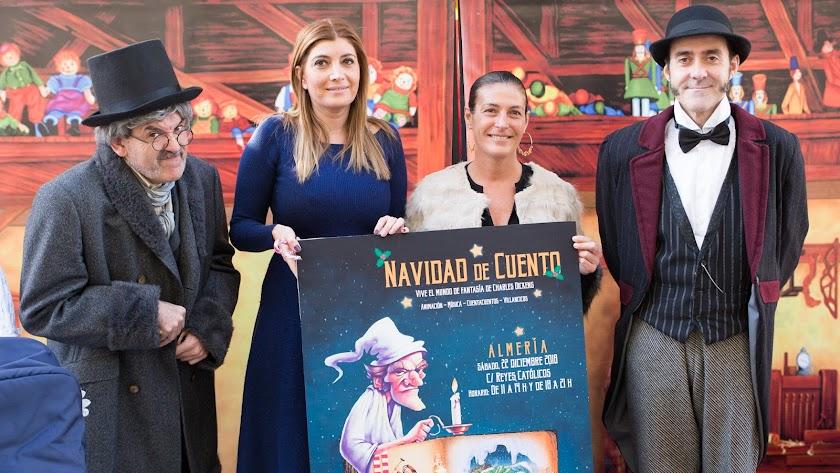 Carolina Lafita junto a los actores que participarán en la actividad.