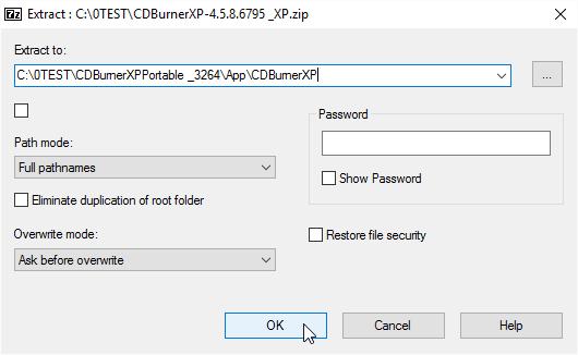 Into App\CDBurnerXP