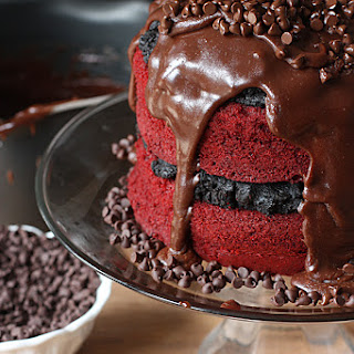 Red Velvet Oreo Truffle Chocolate Cake! Recipe