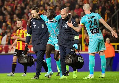 Christophe Diandy zou tot het einde van het seizoen geblesseerd zijn met een gescheurde kruisband