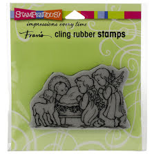 Stampendous Cling Stamp - Manger Cherubim