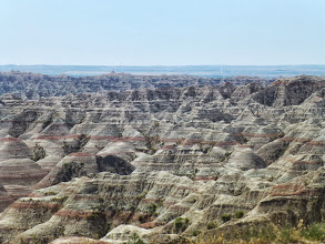 Photo: The Badlands started right away. One moment we're driving through flat farmland, we pass the park entrance, and then wow!
