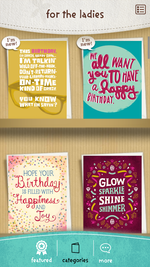 justWink Greeting Cards Android Apps on Google Play – Text for Birthday Card