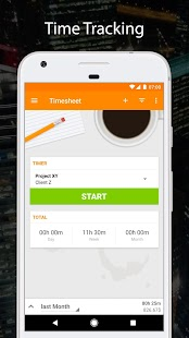 Timesheet - Time Tracker - náhled