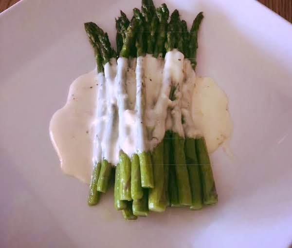 Asparagus With Goat Cheese Cream Sauce Recipe