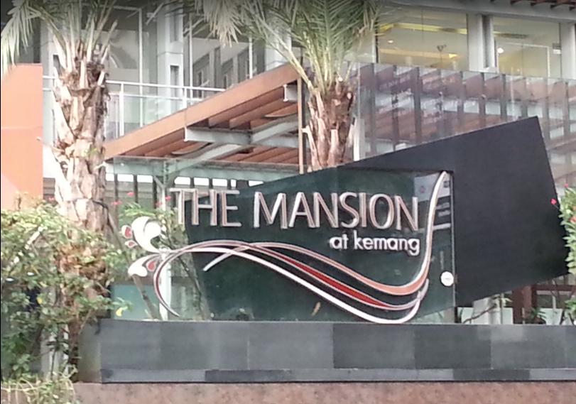 front sign of the mansion at kemang