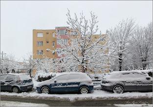 Photo: Turda, Calea Victoriei, alee de acces la Bloc B15, vedere B16, nuc  - 2018.12.18
